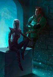 Valen and Nathyrra by Leuxdervo
