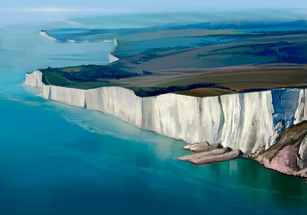 Chalk cliffs by Leuxdervo