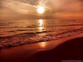 Sunset on the beach 8 by FrancescaDelfino