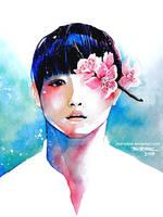 Boy and Flower 2 by bon-adriel