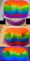 Rainbow UV Bovine Nose by Monoyasha