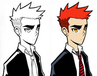 Red Hair Character by ebbewaxin
