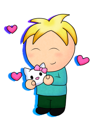 butters and hello kitty by drawn mario on deviantart