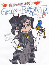 Halloween 2017: Gizmo as Bayonetta by gilster262