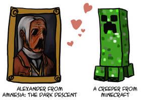 Alexander is a Creeper by peppermintjam