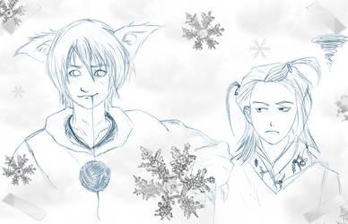 secret santa . Gin and Izuru by ang3ll