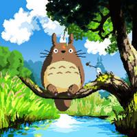 Totoro by theartistjulian