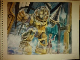 Bioshock Watercolor by felcandy