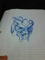 Garrus Sketch by felcandy