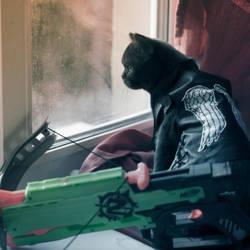 The walking dead - Daryl Dixon catsplay by maXKennedy
