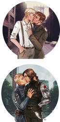 Captain America: The Winter Soldier - Kisses by maXKennedy