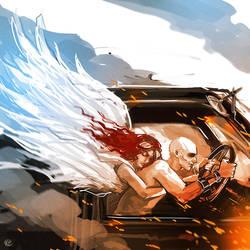 Mad Max Fury Road Nux angel guardian by maXKennedy