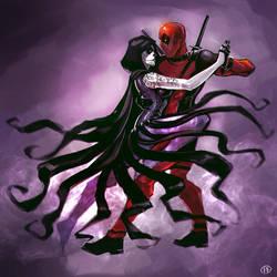 Deadpool x Death by maXKennedy