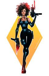 Deadpool - Domino by maXKennedy