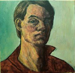 autoportret- akryl na platne- brezen-2O14 by dalimilelingvlach