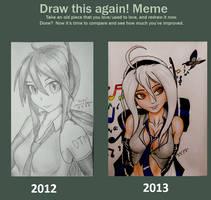 Yowane Haku (Draw this again meme) by KevinTheCrushinator