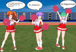 Aquarion Evol Girls Cheerleaders by quamp