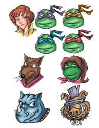 Teenage Mutant Ninja Turtles: 80's cartoon series by omgwtflols