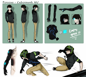 Cyberpunk AU: Reference Sheet by LowRend