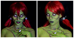 Zombie girl make-up by HelenQuila