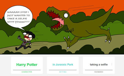WTF is going on (Harry Potter vs T-Rex) by DizzyCinnamon