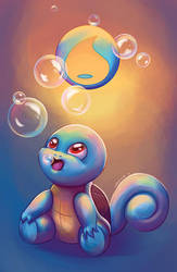 Squirtle by Lyraphine
