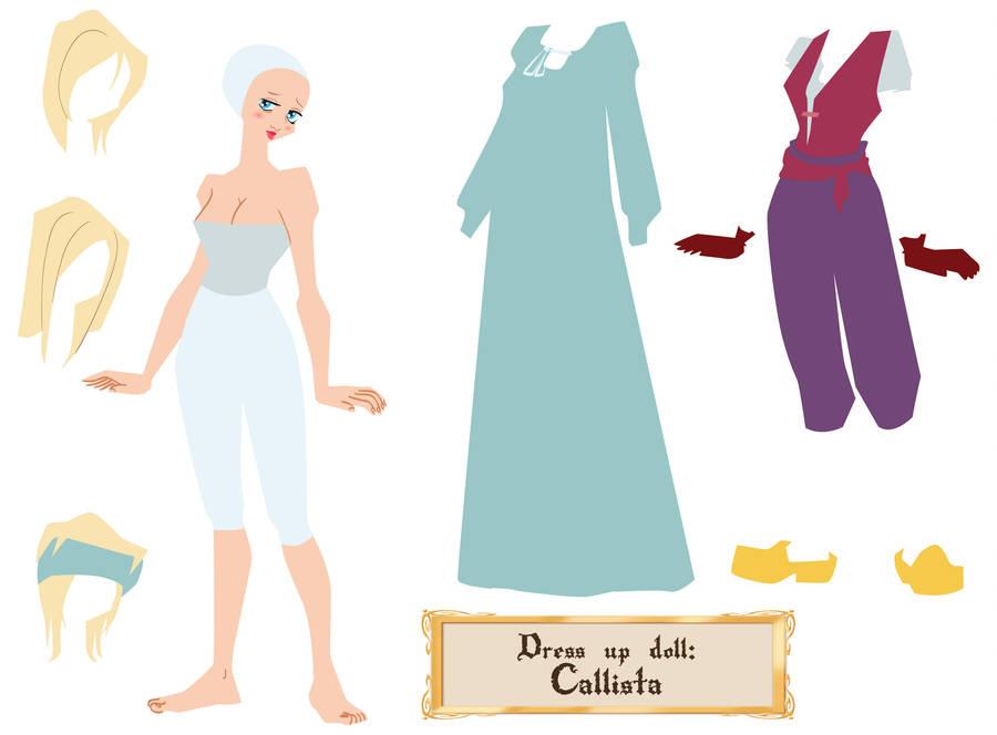 Callista - dress up doll by Dedasaur