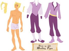 Dress up doll - Westley Fynn by Dedasaur