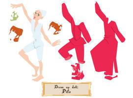 Dress up doll - Pifo by Dedasaur