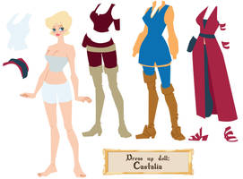 Castalia dress up doll by Dedasaur
