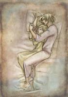 Sleeping Westley and Cassandra by Dedasaur
