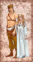Balthasar and Andromeda by Dedasaur