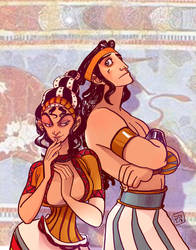 The Mark of Cain - Ariadne and Minos by Dedasaur