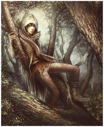 +time to rest on the tree+ by Valentina-Remenar