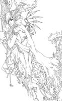 Forest fantasy lineart by Valentina-Remenar