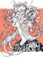 Inktober - Serenity by Valentina-Remenar