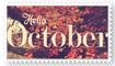 stamp | Hello October by levellove