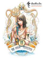 Yuna - Final Fantasy X (Tarot - High Priestess) by Rachta