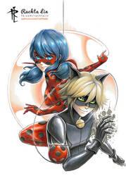 Miraculous Ladybug : Ladybug and Chat Noir by Rachta