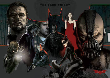 The Dark Knight Tribute (Poster Version) by mohammadyazid