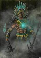Aztec cog warrior by Meewtoo