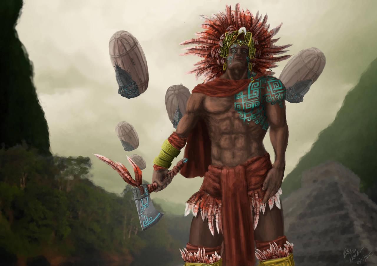 Aztec Warrior by Meewtoo