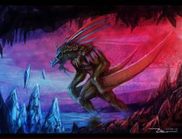Crystal raptor by Meewtoo