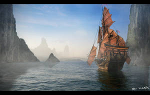 Sailing into the Unknown by Meewtoo
