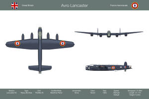Lancaster France 3-View by WS-Clave