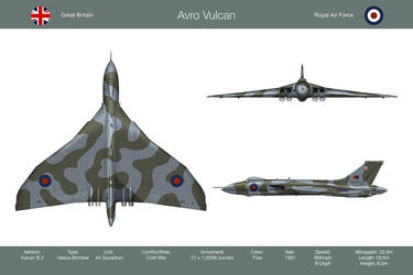 Vulcan 44 Sqn 3-View by WS-Clave