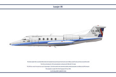 Learjet 35A Uruguay 1 by WS-Clave