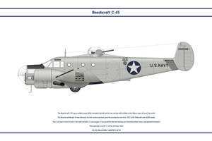 Beech C-45 USN 3 by WS-Clave