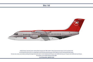 Bae 146 Northwest Airlines by WS-Clave