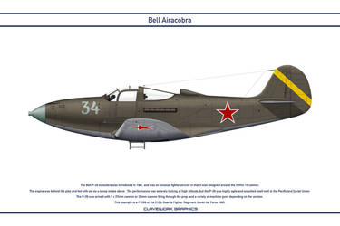 Airacobra USSR 212th Guards Fighter Regiment by WS-Clave